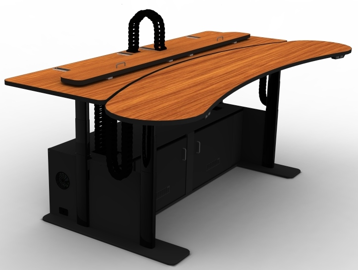 Fire Resistant Adjustable Control Room Desk #RFQ1921-72FR