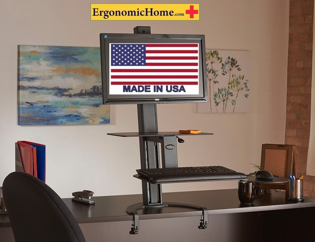 Health Postures TaskMate Go #6300 Sit Stand Workstation. 100% Made in USA. BAA & TAA Compliant. <font color=#c60>Read More...</font>
