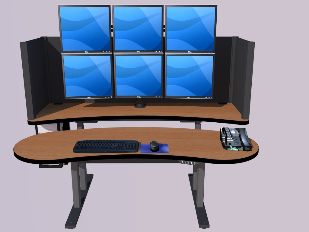 Pacs Workstation Standing Desk Radiology Desk Pacsrfq