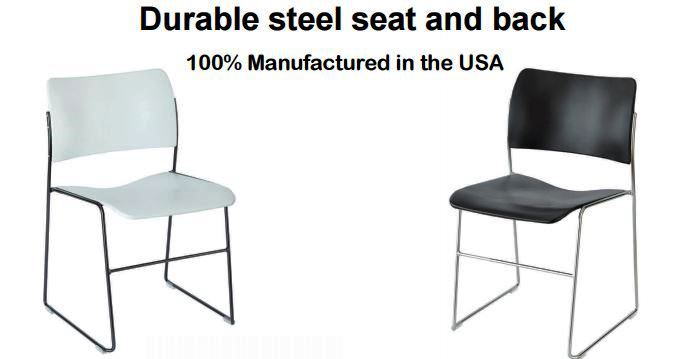 ArmaStax Steel Stack Chair | Optional Tablet Arm