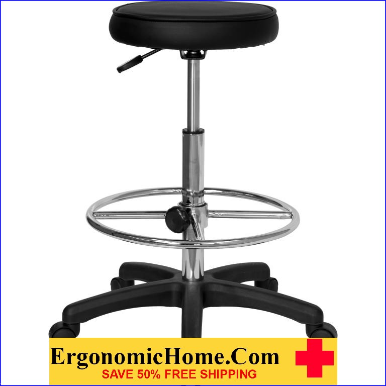 Ergonomic Home Backless Drafting Stool with Adjustable Foot Ring EH-KC96KG-GG <b><font color=green>50% Off Read More Below...</font></b></font></b>