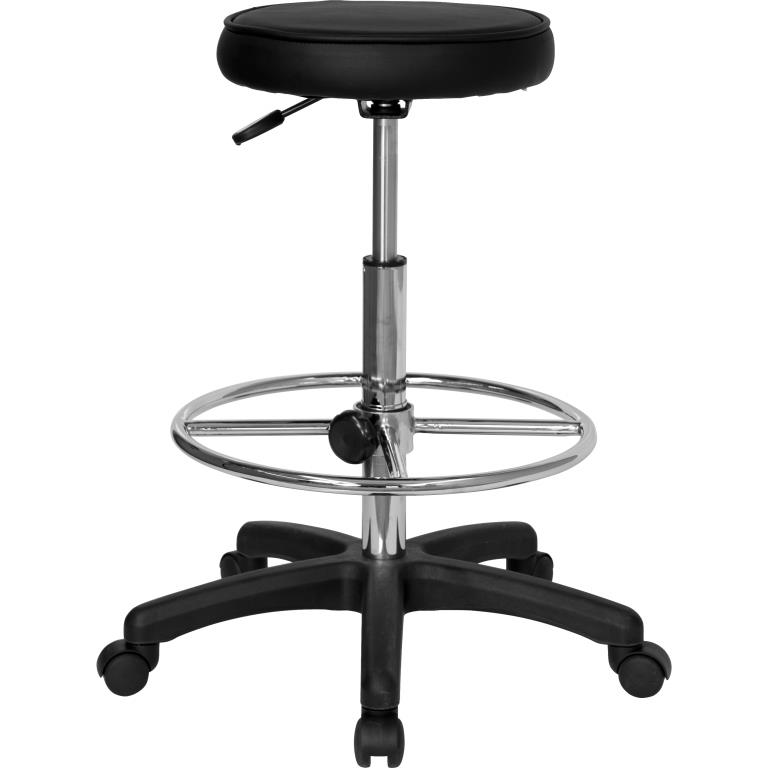 Backless Drafting Stool with Adjustable Foot Ring By Ergonomic Home