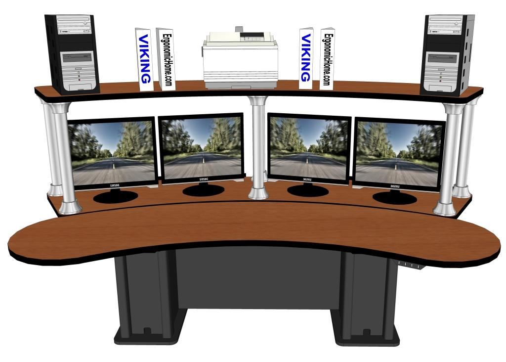 Control Room Console Sit Stand Desk Usa Furniture Tx