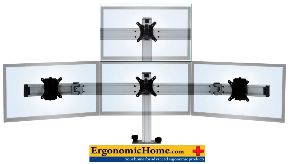 <font color=#c60>QUAD MONITOR MOUNT 1-OVER-3. INNOVATIVE BILD BY ERGONOMICHOME.COM. FREE SHIPPING: </font>