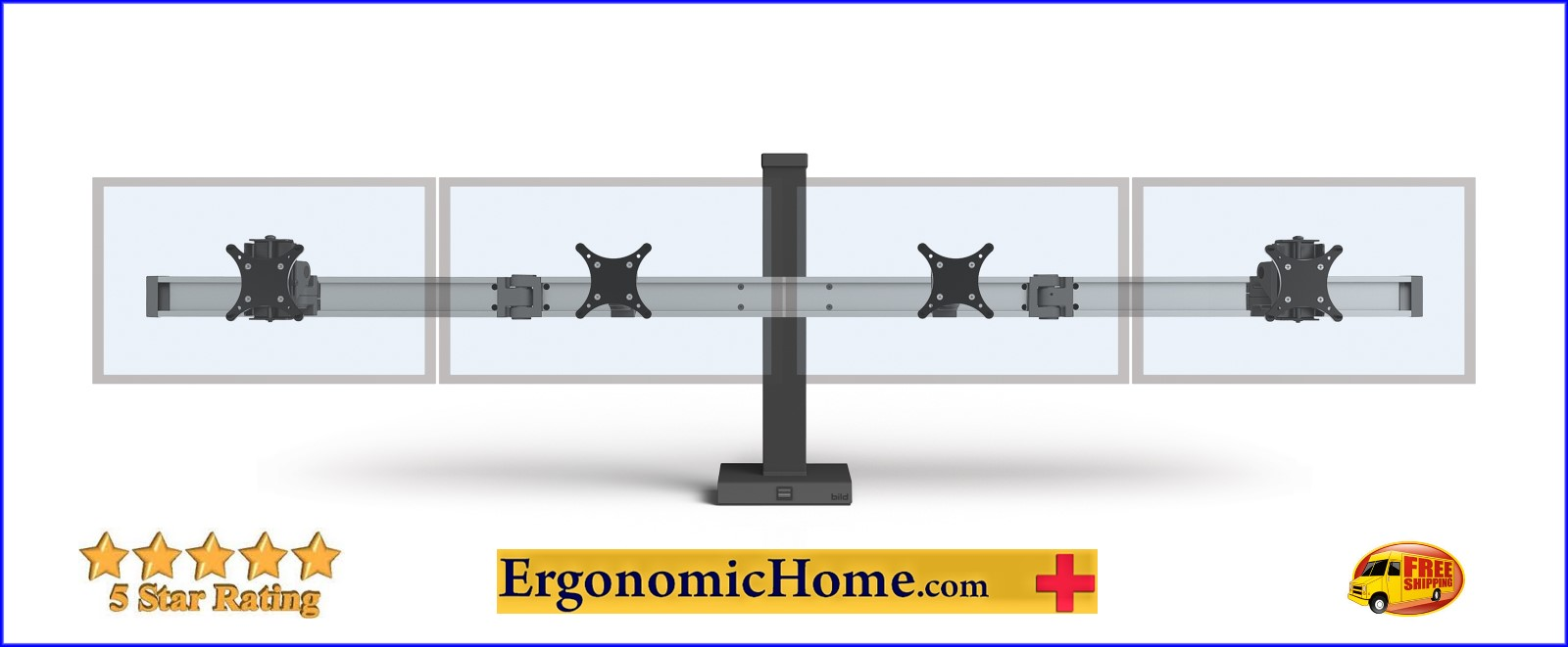 </b></font>QUAD MONITOR STAND  #BILD-4-CM. MOUNTS 4 MONITORS SIDE BY SIDE W/STATIC COLUMN</font>. </b></font></b>