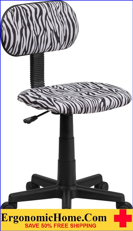 Ergonomic Home Black and White Zebra Print Swivel Task Chair <b><font color=green>50% Off Read More Below...</font></b>