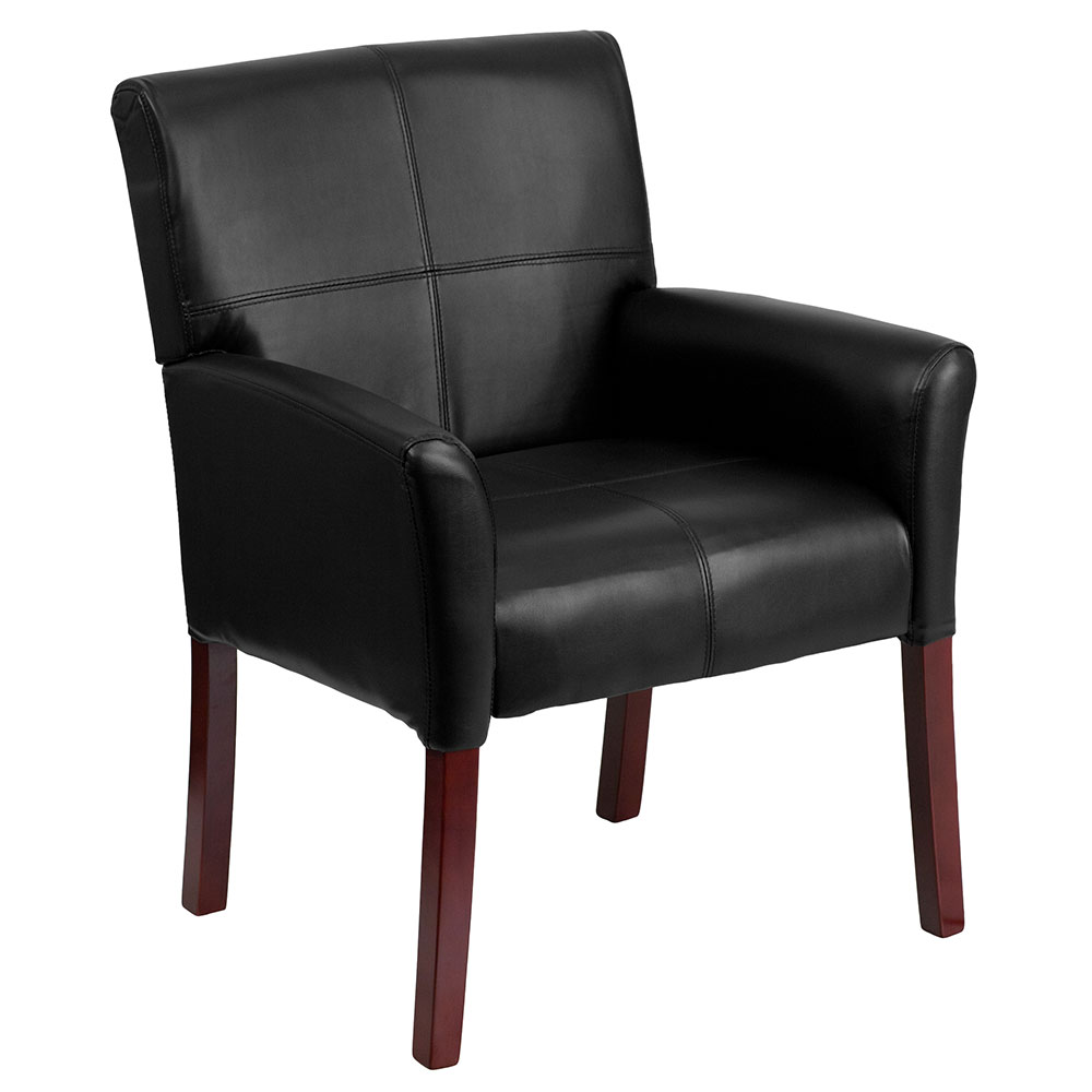 <font color=#c60>Save 50% w/Free Shipping!</font> Black Leather Executive Side Chair or Reception Chair with Mahogany Legs BT-353-BK-LEA-GG  <font color=#c60>Read More ... </font>
