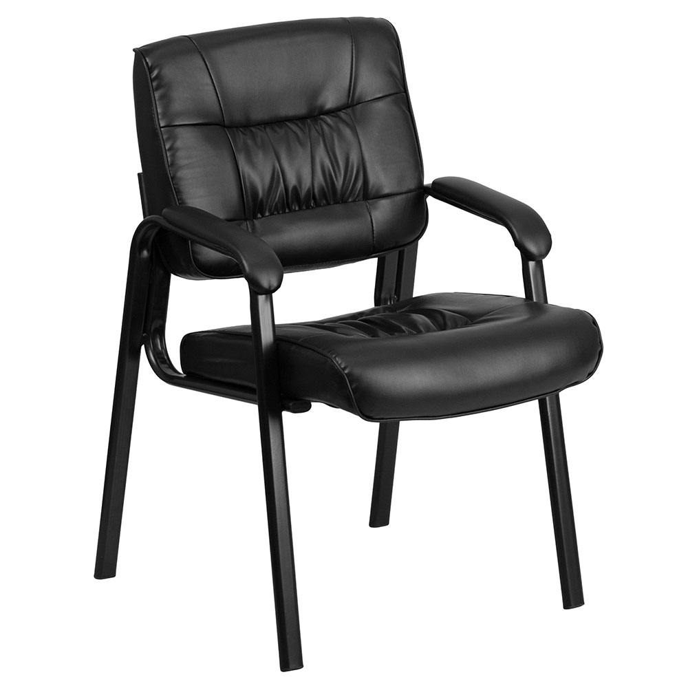 Ergonomic Home Black Leather Executive Side Chair with Black Frame Finish EH-BT-1404-GG <b><font color=green>50% Off Read More Below...</font></b>