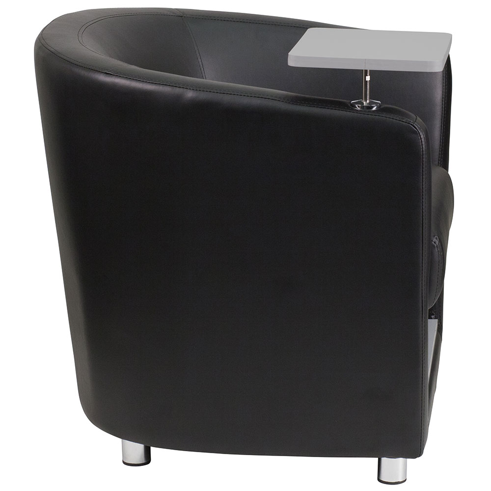 Ergonomic Home Black Leather Guest Chair With Tablet Arm, Chrome Legs And  Under Seat Storage 50% Off Read More Below.