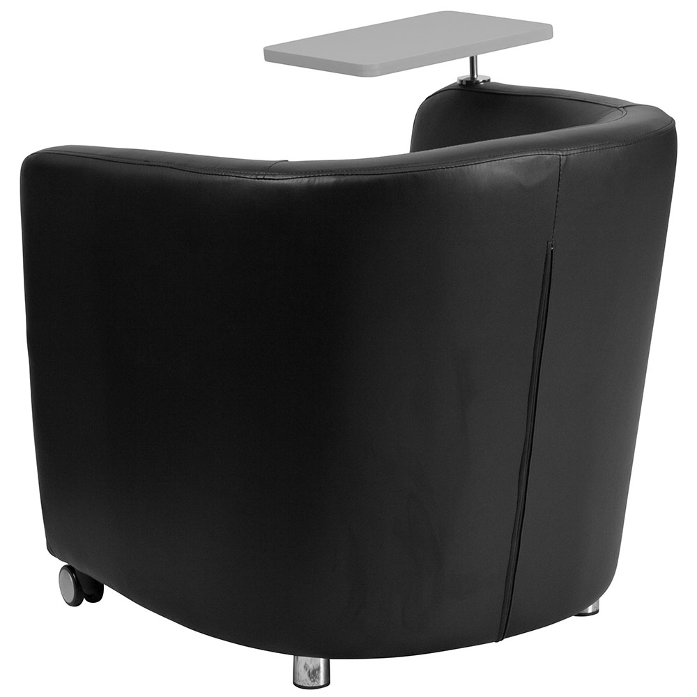 Ergonomic Home Black Leather Guest Chair With Tablet Arm, Front Wheel  Casters And Under Seat Storage 50% Off Read More Below.