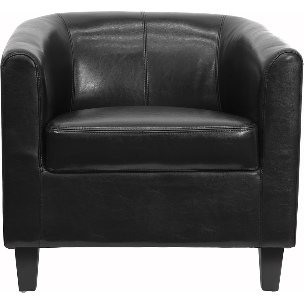 ergonomic home black leather office guest chair reception chair