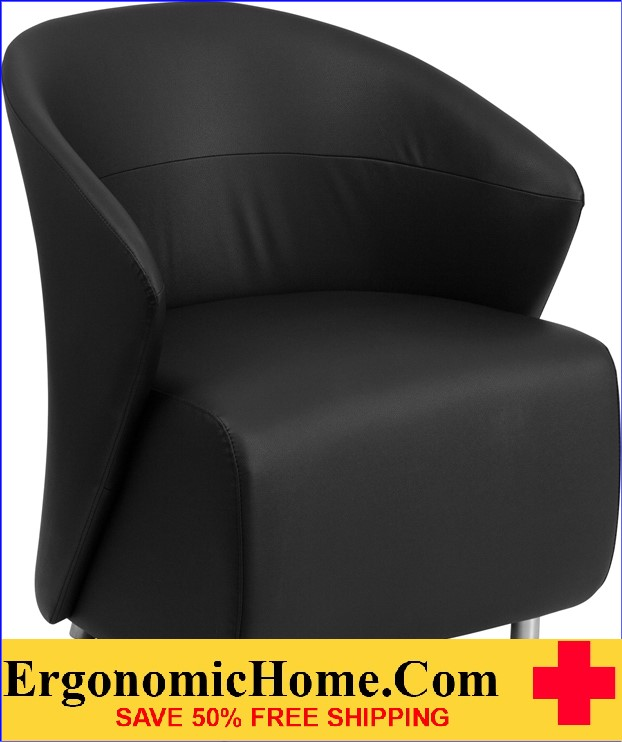 Ergonomic Home Black Leather Reception Chair <b><font color=green>50% Off Read More Below...</font></b>