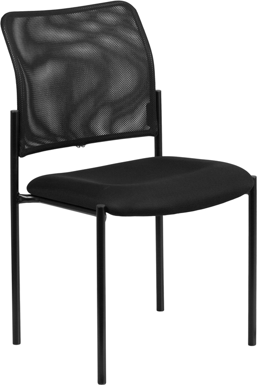 Ergonomic Home Black Mesh Comfortable Stackable Steel Side Chair EH-GO-515-2-GG <b><font color=green>50% Off Read More Below...</font></b>