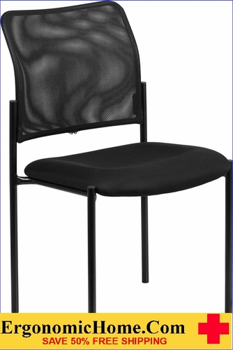 Ergonomic Home Black Mesh Comfortable Stackable Steel Side Chair EH-GO-515-2-GG <b><font color=green>50% Off Read More Below...</font></b></font></b>