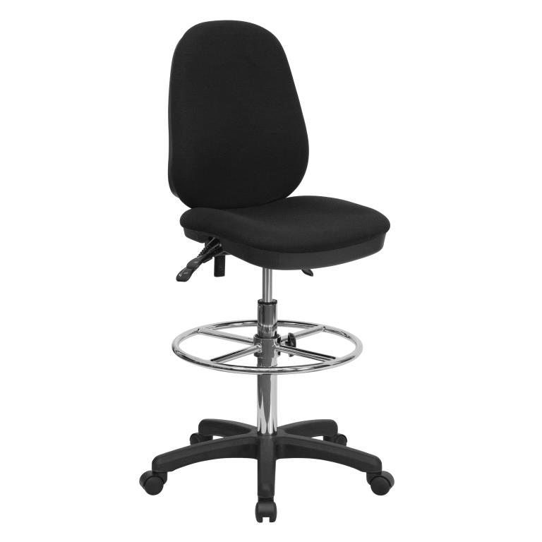 Drafting Chair with Adjustable Foot Ring By Ergonomic Home