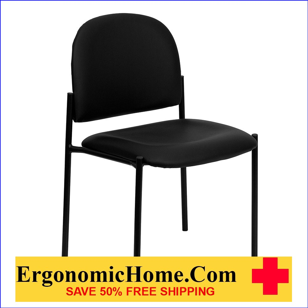 </b></font>Ergonomic Home Black Vinyl Comfortable Stackable Steel Side Chair EH-BT-515-1-VINYL-GG <b></b></font>  VIDEO BELOW. </b></font></b>