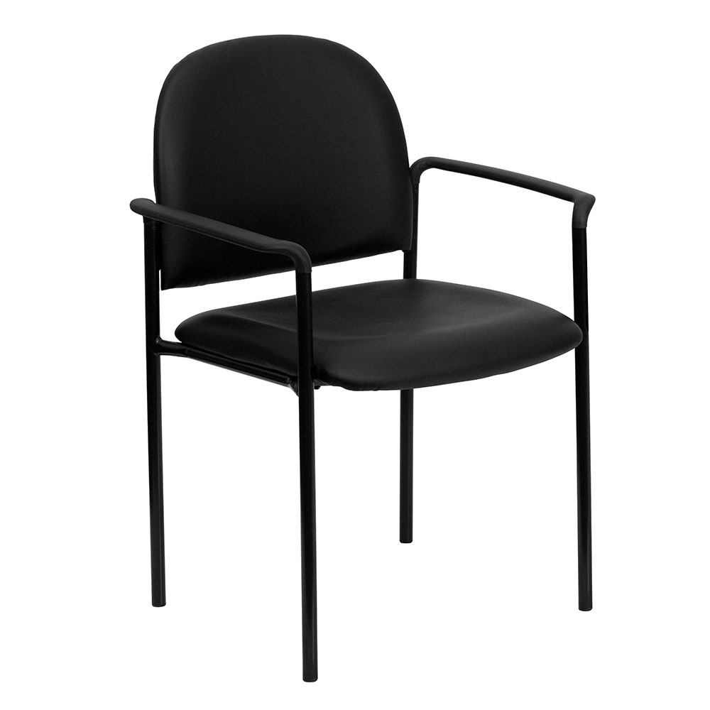 <font color=#c60>Save 50% w/Free Shipping!</font> Black Vinyl Comfortable Stackable Steel Side Chair with Arms BT-516-1-VINYL-GG <font color=#c60>Read More ... </font>