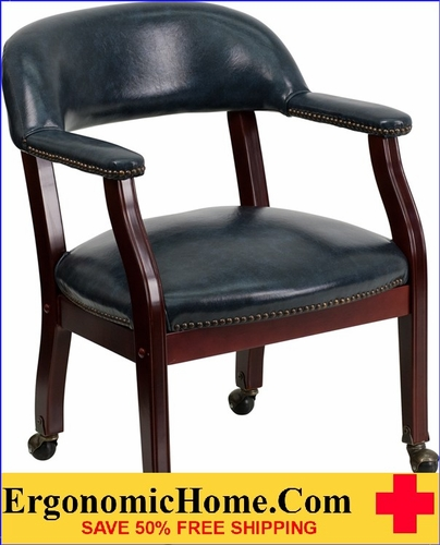 Ergonomic Home Black Vinyl Luxurious Conference Chair with Casters <b><font color=green>50% Off Read More Below...</font></b></font></b>