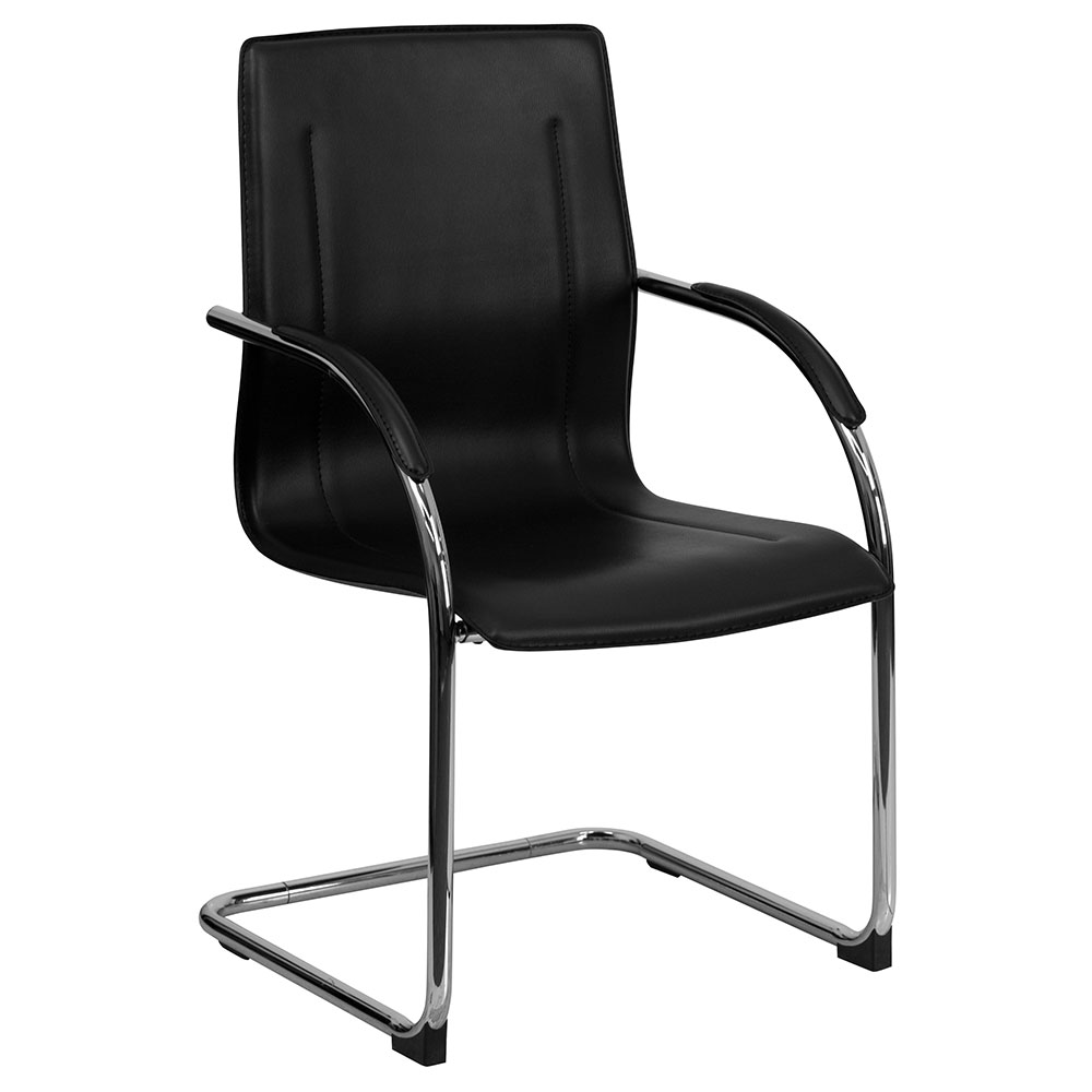 <font color=#c60>Save 50% w/Free Shipping!</font> Black Vinyl Side Chair with Chrome Sled Base BT-509-BK-GG <font color=#c60>Read More ... </font>