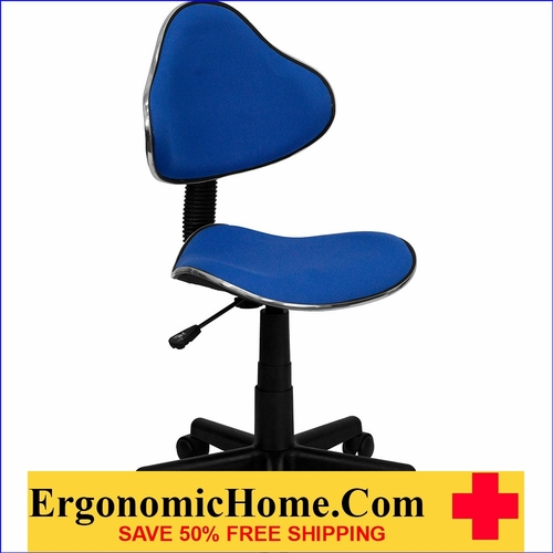 Ergonomic Home Blue Fabric Ergonomic Swivel Task Chair EH-BT-699-BLUE-GG  <b><font color=green>50% Off Read More Below...</font></b>