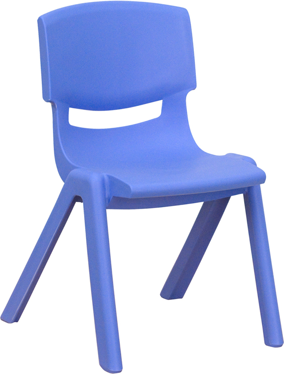 Ergonomic Home Blue Plastic Stackable School Chair with 12'' Seat Height <b><font color=green>50% Off Read More Below...</font></b>