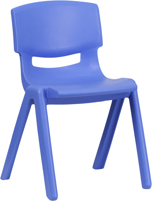 Ergonomic Home Blue Plastic Stackable School Chair with 13.25'' Seat Height <b><font color=green>50% Off Read More Below...</font></b>