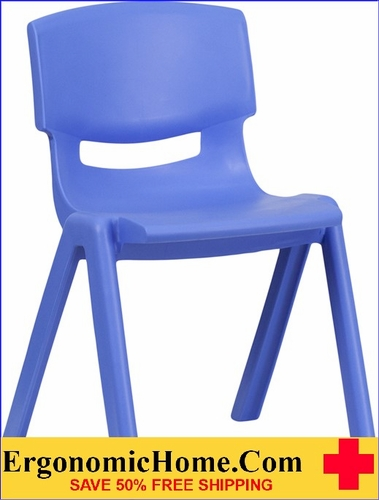 Ergonomic Home Blue Plastic Stackable School Chair with 13.25'' Seat Height  EH-YU-YCX-004-BLUE-GG <b><font color=green>50% Off Read More Below...</font></b>