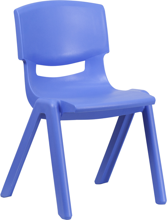 Ergonomic Home Blue Plastic Stackable School Chair with 15.5'' Seat Height <b><font color=green>50% Off Read More Below...</font></b>