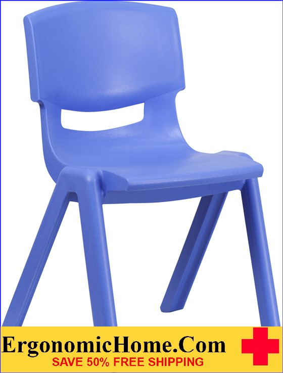 </b></font>Ergonomic Home Blue Plastic Stackable School Chair with 15.5'' Seat Height EH-YU-YCX-005-BLUE-GG <b></font>. </b></font></b>