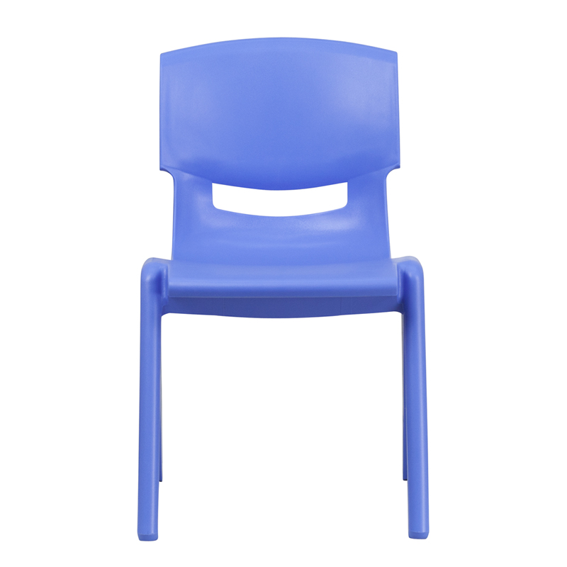 Ergonomic Home Blue Plastic Stackable School Chair With 15