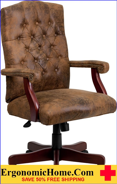 Ergonomic Home Bomber Brown Classic Executive Swivel Office Chair u003cbu003eu003cfont coloru003d & Conference Chairs | Leather Executive Chairs | TX CA NY PA