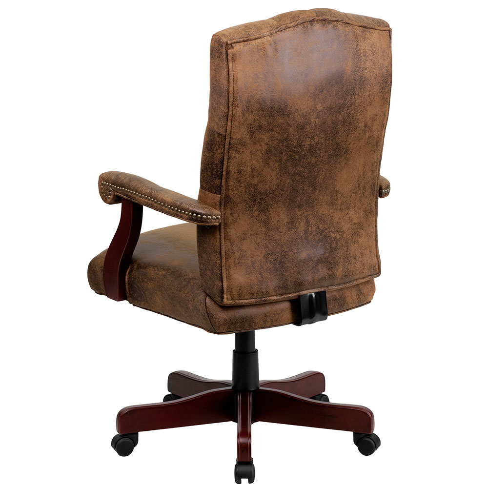 Chair: Ergonomic Home Bomber Brown Classic Executive Swivel