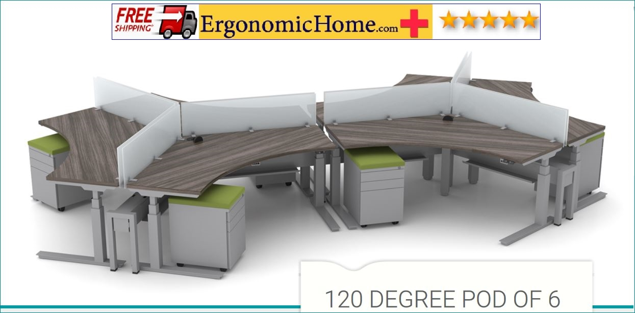 ERGONOMIC HOME BOOST STANDING COMPUTER DESK POD OF 6. FREE SHIPPING 5-7 BIZ DAYS+ASSEMBLY INCLUDED! READ MORE BELOW...