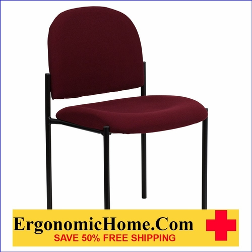 Ergonomic Home Burgundy Fabric Comfortable Stackable Steel Side Chair EH-BT-515-1-BY-GG <b><font color=green>50% Off Read More Below...</font></b>