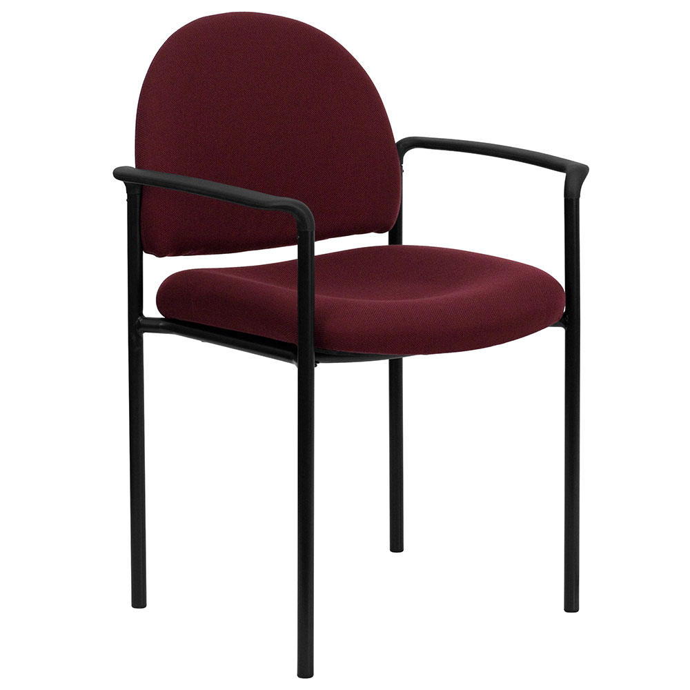 <font color=#c60>Save 50% w/Free Shipping!</font> Burgundy Fabric Comfortable Stackable Steel Side Chair with Arms BT-516-1-BY-GG <font color=#c60>Read More ... </font>
