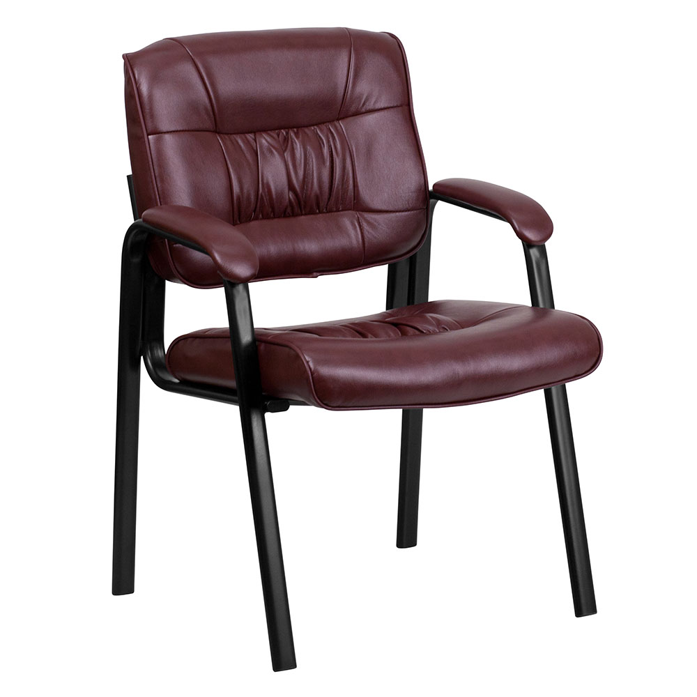 Ergonomic Home Burgundy Leather Executive Side Chair with Black Frame Finish EH-BT-1404-BURG-GG <b><font color=green>50% Off Read More Below...</font></b>