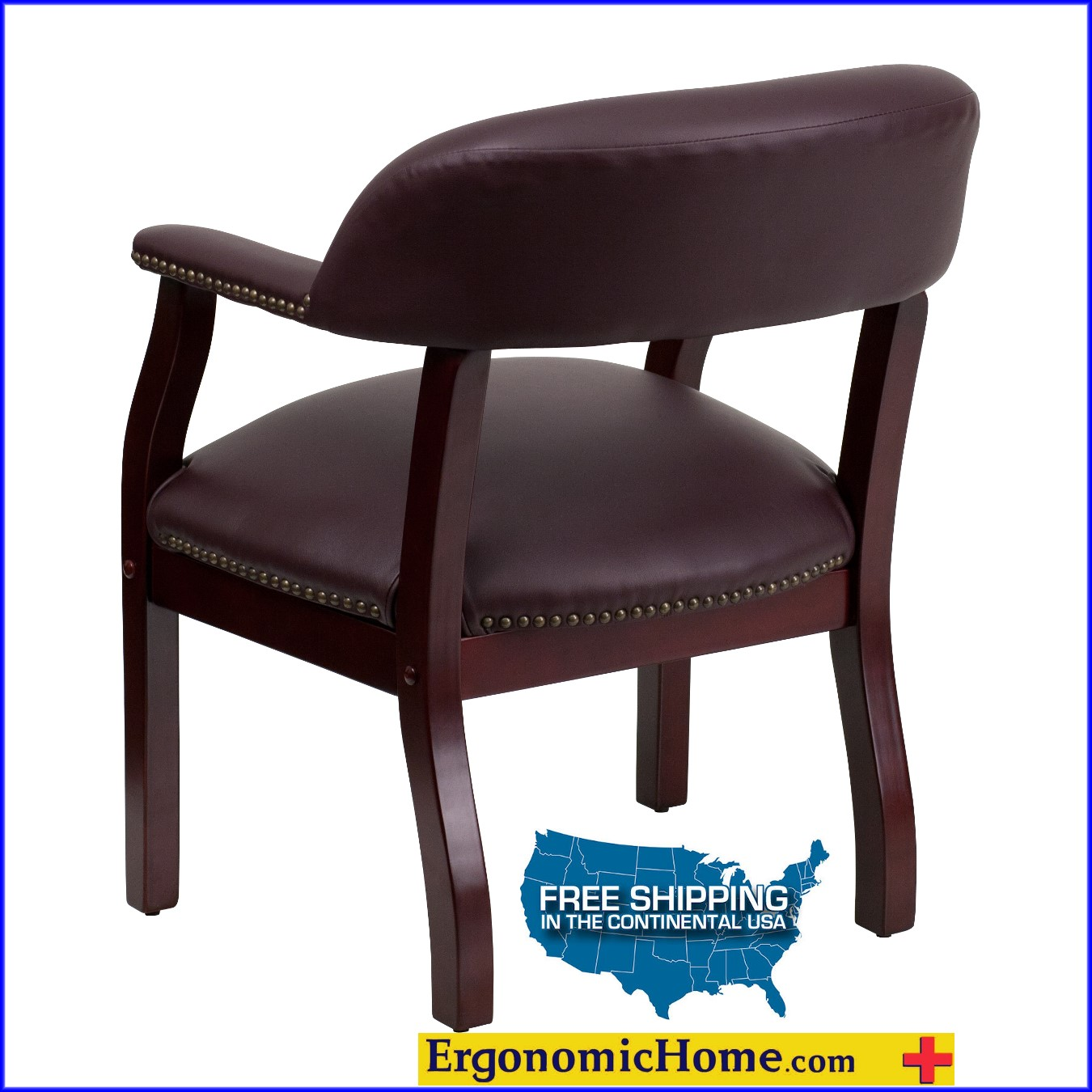 Burgundy Top Grain Leather Conference Chair. <font color=#c60>Read More...</font>