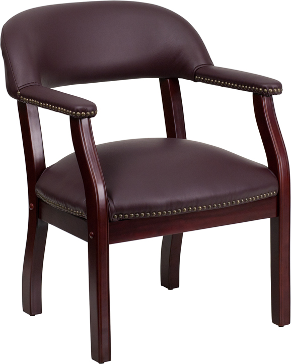 Ergonomic Home Burgundy Top Grain Leather Conference Chair EH-B-Z105-LF19-LEA-GG <b><font color=green>50% Off Read More Below...</font></b>