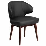<font color=#c60>Save 50% w/Free Shipping!</font> Comfort Back Series Black Leather Reception-Lounge-Office Chair with Walnut Legs. <font color=#c60>Read More ... </font>