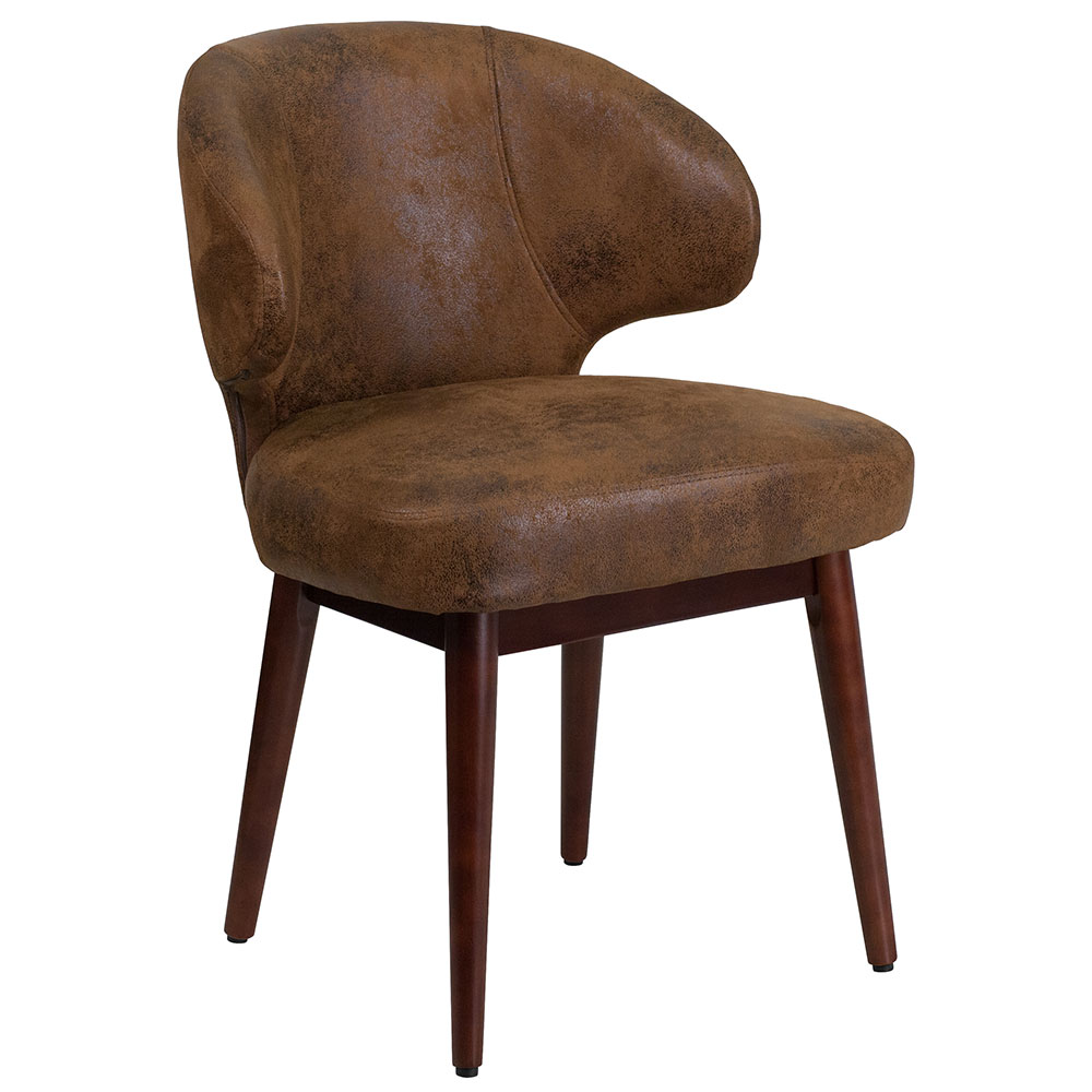 <font color=#c60>Save 50% w/Free Shipping!</font> Comfort Back Series Bomber Jacket Microfiber Reception-Lounge-Office Chair with Walnut Legs BT-5-BOM-GG <font color=#c60>Read More ... </font>