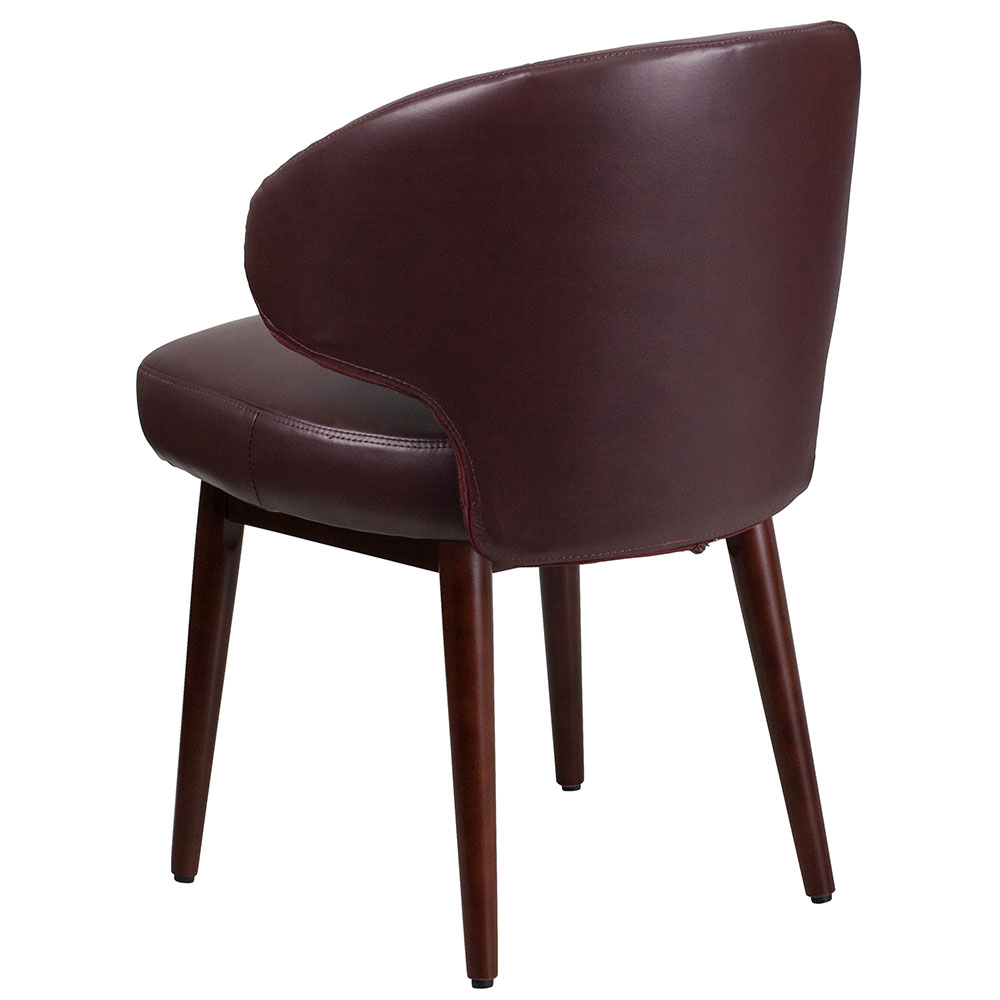 Ergonomic Home Comfort Back Series Burgundy Leather