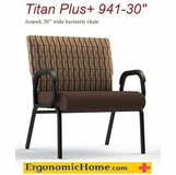 <b><font color=#c60>COMFORTEK TITAN ASSISTED LIVING BARIATRIC CHAIR W/GLIDES #941-30. FRAME RATED AT 600LBS:</b></font>