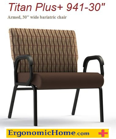 Comfortek Titan Assisted Living Bariatric Arm Chair w/Glides #941-30.  Frame Rating 600 lbs!  Free Shipping Saves You Money.