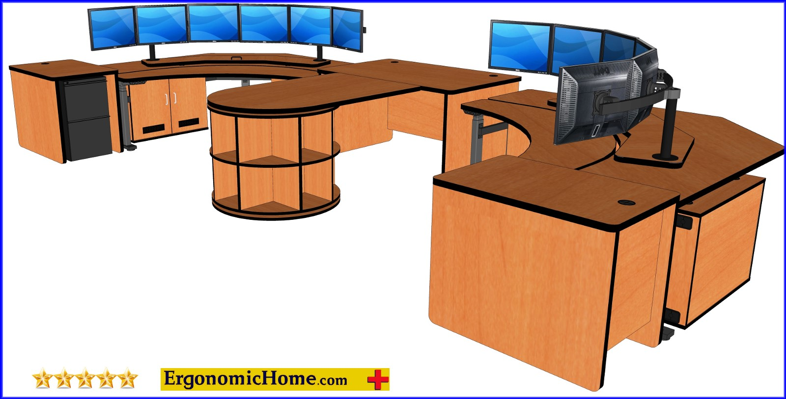 Control Room Dispatch Furniture Model #ECP. Includes everything you will need for two control room operators. Read More Below...