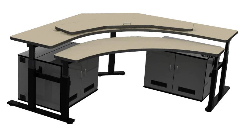 Control room furniture corner computer desk rfq1778 Office furniture 911