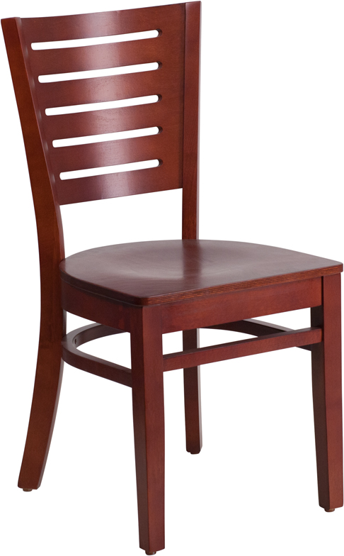 ERGONOMIC HOME TOUGH ENOUGH Series Slat Back Mahogany Wooden Restaurant Chair <b><font color=green>50% Off Read More Below...</font></b>