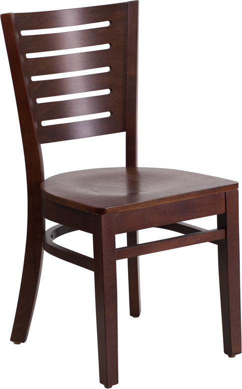 ERGONOMIC HOME TOUGH ENOUGH Series Slat Back Walnut Wooden Restaurant Chair <b><font color=green>50% Off Read More Below...</font></b>