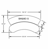 Dimensions Curved Banana Control Room Desk #EHBAN24-Curved