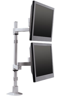 Dual Vertical Monitor Stand #9112-D-28-FM
