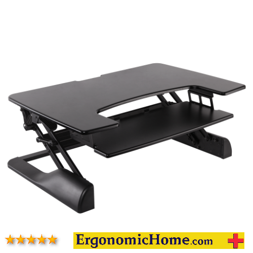 "Ergonomic Home ErgoTech Innovative Freedom Desk Ships Assembled. Model #FDM-DESK-Black-42"" Wide. Supports up to 35 lbs Black Finish."